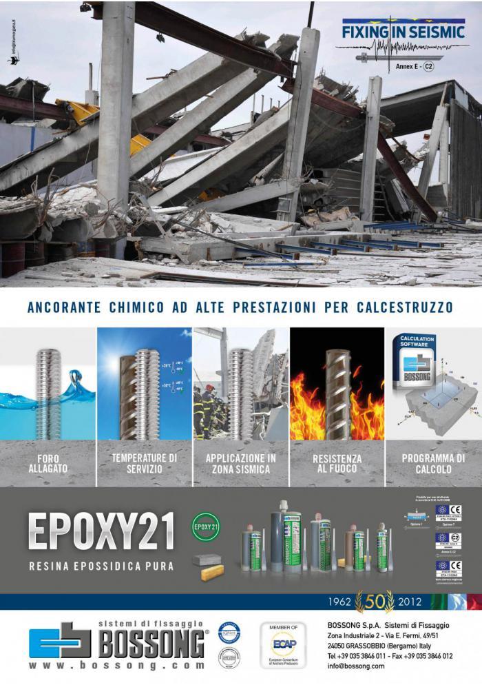 resina Epossidica Bossong per fissaggi in zona sismica