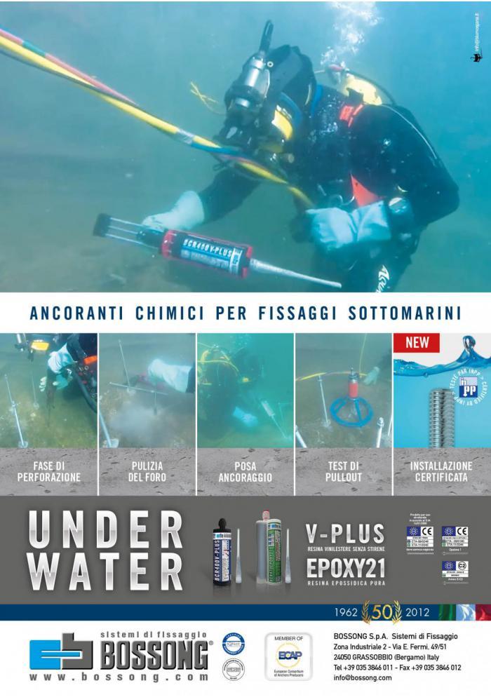 ancoranti chimici Bossong per fissaggi sottomarini