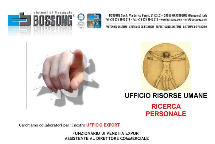 ricerca personale export area manager